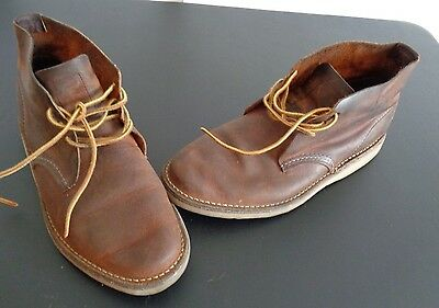 RED WING Boots Men's Size 7 Weekender Chukka Style 3322 Brown FREE SHIPPING