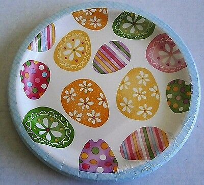 """Easter Paper Plates  10 ct   8 3/4"""" Plates  SPRING EGG TOSS"""