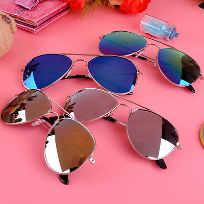 Cool Children Retro Aviator Sunglasses Metal Frame UV400 Protection for Boy Girl