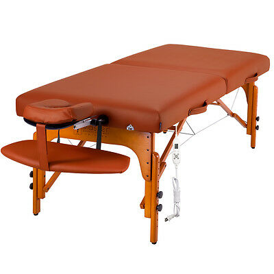 "Master Massage 31"" Inch Santana Therma Top Portable Table Package Mountain Red"