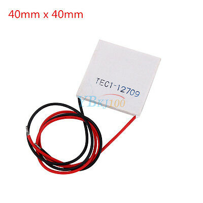 12V TEC1-12709 100W Thermoelectric Cooler Peltier Plate 40mm x 40mm Heatsink SG