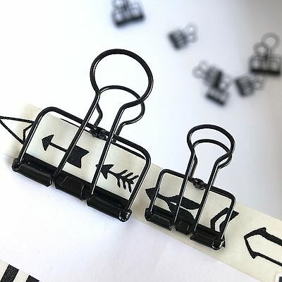 Black Planner Paper Clips Binder Bulldog Paperclip 33mm