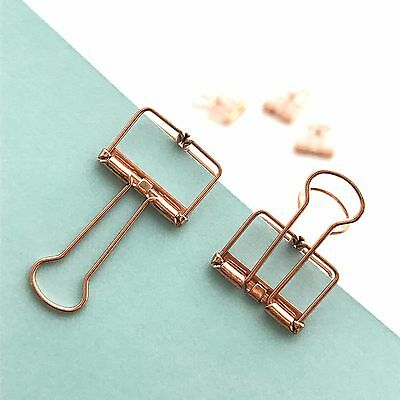 Rose Gold Planner Clips Bulldog Paper Clip Copper 19mm x 5