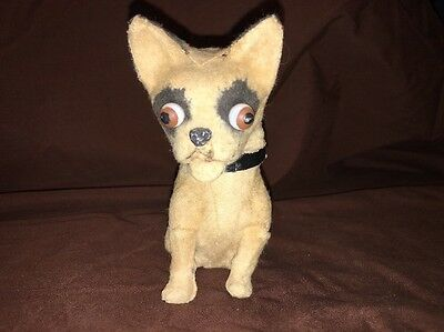 Vintage(early 1900s) Small Velvet Chihuahua Dog Possibly Steiff
