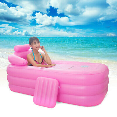 Inflatable PVC Bath Tub Bathtub Adult Portable Foldable Sun Bed Relaxing Bathtub