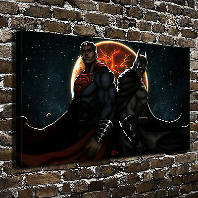 Superman Batman Paintings HD Print on Canvas Home Decor Wall Art Picture posters