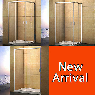 Aica Quadrant/Corner Entry Shower Enclosure Walk In Glass Door Screen Cubicle