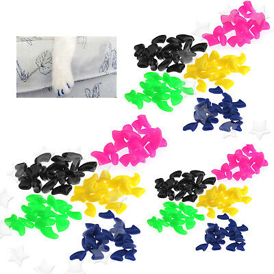 100pcs New Multi Size Pet Cat Nail Covers Claw Paws Caps Soft Gel Protector