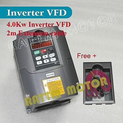 【USA Stock】4KW 5HP 220V Inverter VFD VARIABLE FREQUENCY DRIVE 18A for CNC Router