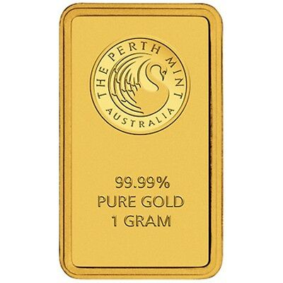 Perth Mint Gold 1g Minted Bullion Bar