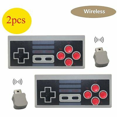 2 Wireless Game Controller Gamepad für Nintendo NES Mini Classic Edition Konsole