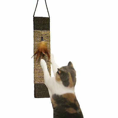Rosewood Jolly Moggy Wild Catnip Toy Cat Scratch & Play Hanging Scratching Mat