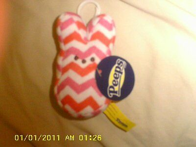 New PEEPS Mini Bunny Backpack Clip STRIPED design