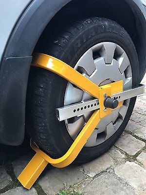 "Good Quality Car Wheel Clamp For 13"" 14"" & 15"" Wheels Safety Lock With 2 Keys"