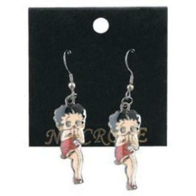 Betty Boop Enamel Earrings Full Color Classic Betty Oops Brand New