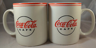Set of 2 Coca-Cola Café Coffee Mugs Gibson 2000 Tea