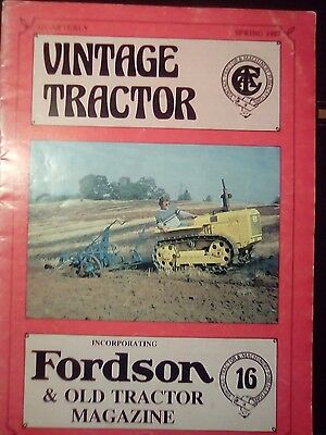 Vintage Tractor Magazine Old Tractor fordson spring 1987