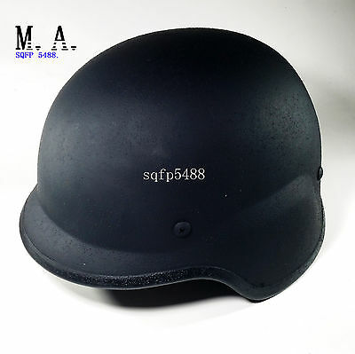 Black US Army M88 Steel Helmet 1.2 Kg Anti Riot Pasgt Outdoor Collectible