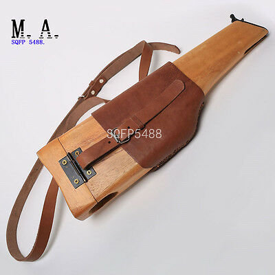 Ww2 Wwii German Mauser Wood Holster C96 Pistol Stock Case Cuoio Broomhandle