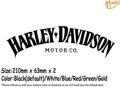 2 Pcs Harley Davidson Stickers Reflective Motorcycle Decals Stickers Best Gift