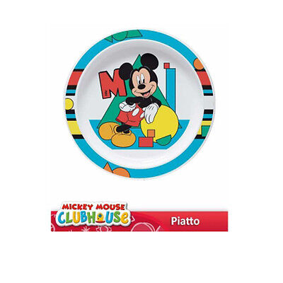 Piatto piano Disney MICKEY MOUSE TOPOLINO merenda pranzo asilo idea regalo