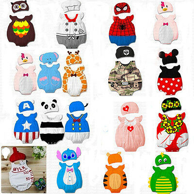 Baby Animal Onesi Costume Bodysuit Outfit Newborn Boy Girl Romper Clothes Set
