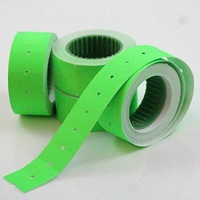 10,000 (8 Rolls) Green Permanent Blank Plain CT1 22 x 12mm Price Gun Labels