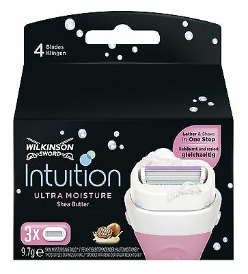 Wilkinson Sword Intuition Ultra Moisture Women`s Razor Blade X3 Pack