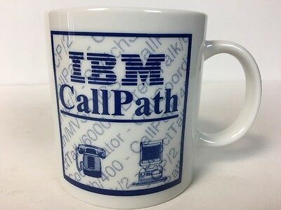 Vintage IBM White Coffee Cup Mug CallPath VTG Internet VERY RARE Geek WORLD SHIP