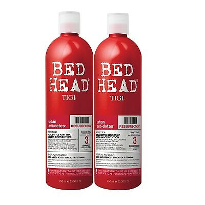 Tigi Bed Head Resurrection Shampoo 750ml + Conditioner 750ml Tween Duo