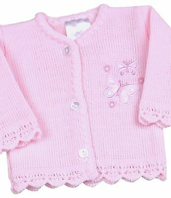 BabyPrem Baby Girls Clothes Premature Preemie Tiny Pink Knitted Cardigan 3 - 8lb