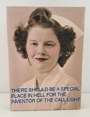 "Special Place in Hell Nurse Hospital Call Light Funny Humor Sign 5"" X 7"""