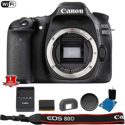 Canon EOS 80D WiFi NFC Digital SLR DSLR Body + Lens Cleaning Kit