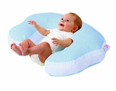Love2Sleep BABY FEEDING/ NURSING PILLOW - COMPLETE SUPPORT - BLUE CHECK