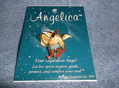Angelica - Guardian Angel Christmas Pin - Joy - 1994 Gigi Accessories - New