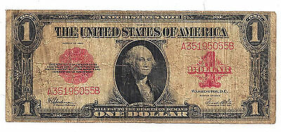 Fr-40 1923 USA One Dollar United States Note - Red Seal