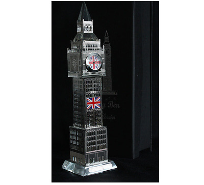 Big Ben   Clock 3D Laser Multi Lights London Souvenir Ornament 23CM