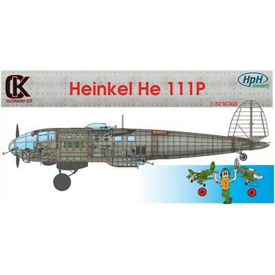 HPH Heinkel He 111P 1/32 Scale Resin Kit Sectioned Aircraft. Conversion Kit.  Re