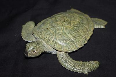 "Vintage AAA 10 in 10"" Sea Turtle Swimming Beautiful Figure Figurine Plastic"