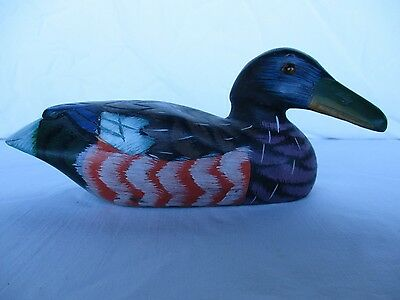 Wood Duck, Collectible Mallard Hand Carved & Painted