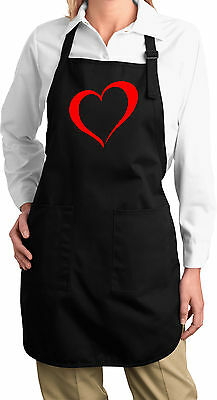 Ladies Yoga Heart Outline Apron