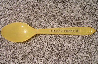Vintage Yellow Plastic DAIRY QUEEN ice cream Spoon