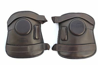 2 Strap Polo & Ridding Knee Guards made of Leather for Ladies & Kids 8 to 16 YR