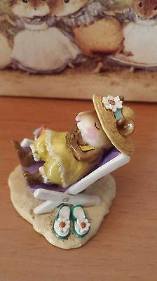 """Wee Forest Folk, M-234, """"Sun Snoozer"""" yellow/lavender Mint"""
