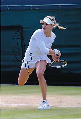 Eugenie Bouchard Tennis autograph, In-Person Signed 8X12 Inches Photo Proof