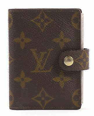 LOUIS VUITTON Authentic Brown Monogram Canvas Card Case
