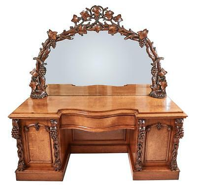 19Th Century Ornate Victorian Carved Oak Sideboard