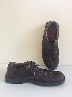 Men's Clarks Brown Leather Lace Up Shoes 10 M
