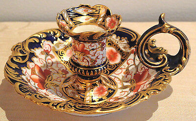 Exyremely Rare Royal Crown Derby 2451 Chamber Candlestick - Date Code For 1894