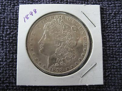 1898 plain Morgan silver Dollar